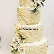 Ruffle wedding cake Toronto