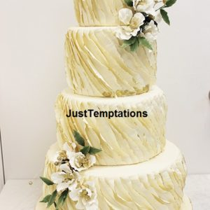 Ruffle wedding cake Toronto