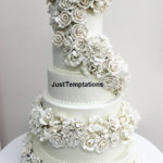 floral wedding cake 5 tiered