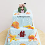 beach themed wedding cke