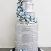 silver sheesha wedding cake