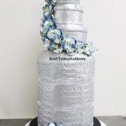 silver sheesha wedding cake