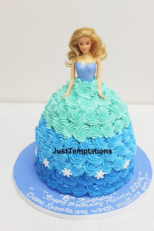 barbie cake blue