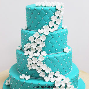 tea; 4 tiered wedding cake