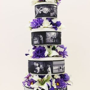 wedding cake with pictures