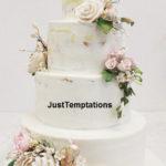 rustic 5 tiered pastel wedding cake
