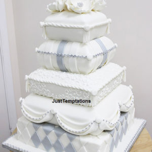 5 tiered unique wedding cake