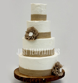 butter cream wedding cake