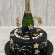 champagne bottle birthday cake