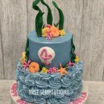blue birthday cake